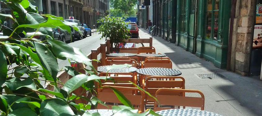 Terrasse du restaurant Le Troquet des Sens à Lyon