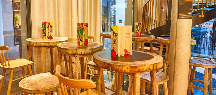 Terrasse du restaurant Miss Paradis à Lyon