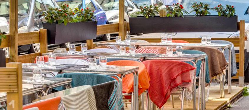 Terrasse du restaurant Petit Ogre à Lyon