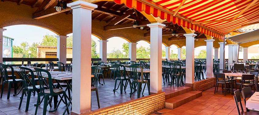 Terrasse du restaurant Pizzeria chez Gina à Saint Priest