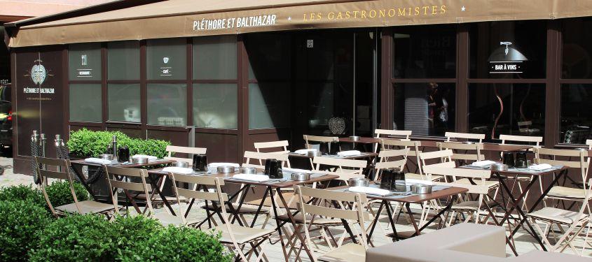 Terrasse du restaurant Pléthore et Balthazar à Lyon