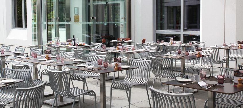 Terrasse du restaurant Quai 50 à Lyon