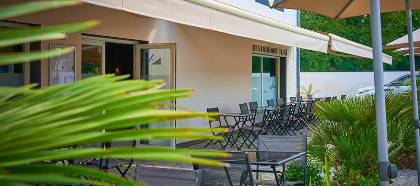 Terrasse du restaurant Siam Garden à Craponne