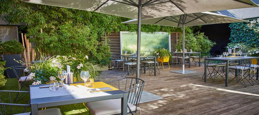 Terrasse du restaurant Silk Brasserie à Lyon